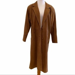 Vintage 80's Full-length Leather Duster Jacket